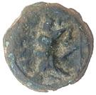 Hémiobole au taureau (Massalia, tête à droite, variantes non identifiables) – revers
