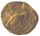 ¼ de statère d'or (Osismes) – revers