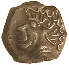 Drachme à la tête négroïde (Tolosa, frappe incuse de l'avers) – avers