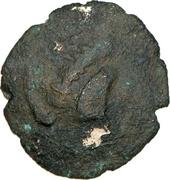 Quart de statère d'or fourré d'Armorique – avers