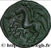 AMBIENS (Région d'Amiens) Bronze aux loups affrontés et au cheval – revers
