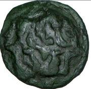 AMBIENS (Région d'Amiens) Bronze aux loups affrontés et au cheval – avers