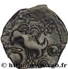 """Bronze """"INS"""" à l'oiseau et au vase (Senones) – revers"""