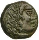 Bronze à l'aigle et à la croisette (Carnutes) – avers