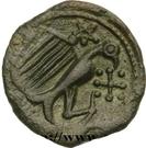Bronze à l'aigle et à la croisette (Carnutes) – revers