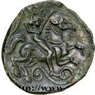 """Bronze """"PIXTILOS"""" au cavalier (Carnutes) – revers"""