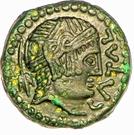 """Bronze """"CATAL"""" à l'aigle et à l'amphore (Carnutes) – avers"""