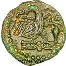 """Bronze """"CATAL"""" à l'aigle et à l'amphore (Carnutes) – revers"""
