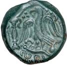"""Bronze """"PIXTILOS"""" à l'oiseau dans le temple (Carnutes) – revers"""