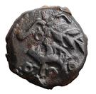 Bronze au sanglier au rameau et au cheval (Ambiani) – avers