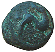 Bronze au cheval retournant la tête (Ambiani) – avers