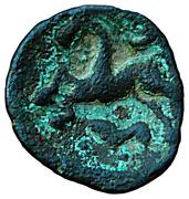 Bronze au cheval retournant la tête (Ambiani) – revers