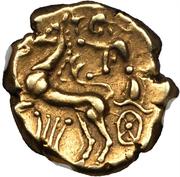 Statère au cheval à gauche (Arverni) – revers