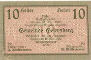 10 Heller (Geiersberg) – avers
