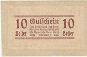 10 Heller (Geiersberg) – revers