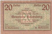 20 Heller (Geiersberg) – avers