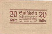 20 Heller (Geiersberg) – revers