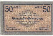 50 Heller (Geiersberg) – avers