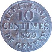 10 centimes – revers