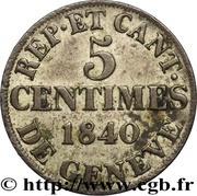 5 centimes – revers