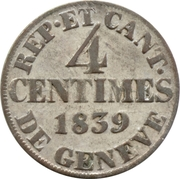 4 centimes – revers