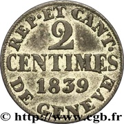 2 centimes – revers