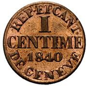 1 centime – revers