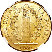 96 Lire (Ligurian Republic) -  revers