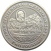 2 pounds - Elizabeth II (4eme effigie; Anniversaire de Grytviken) – revers