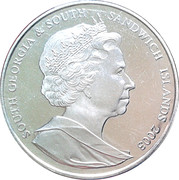 2 Pounds - Elizabeth II (Captain James Cook) – avers