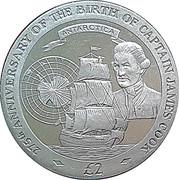 2 Pounds - Elizabeth II (Captain James Cook) – revers