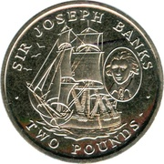 2 livres Joseph Banks – revers