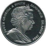 2 Pounds - Elizabeth II Sir Ernest Shackleton (Proof) – avers