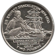 2 pounds - Elizabeth II (4eme effigie - Sir Ernest Shackleton) – revers