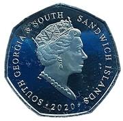 50 pence - Elizabeth II (HMS Resolution) – avers