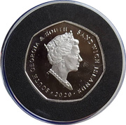 50 Pence - Elizabeth II Gentoo Penguin – avers