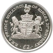 2 pounds - Elizabeth II (4eme effigie; Anniversaire du Prince William) – revers