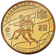 20 Lari (Jeux olympiques Pékin 2008) – avers