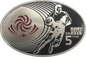 5 lari (Coupe du monde de rugby à XV 2019) – avers