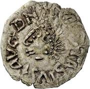 ¼ siliqua Au nom d'Anastasius I, 491-518 & Theoderic, 475-526 (Sirmium; buste face à gauche) – avers