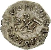 ¼ siliqua Au nom d'Anastasius I, 491-518 & Theoderic, 475-526 (Sirmium; buste face à gauche) – revers