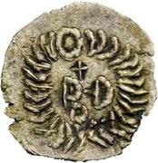 ¼ siliqua Au nom d'Anastasius I, 491-518 & Theoderic, 475-526 (Sirmium) – revers