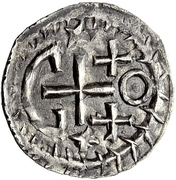 ¼ silique Au nom de Justinien I, 527-565 & Théodoric, 475–526 (Sirmium; avec des étoiles) -  avers