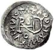 ¼ siliqua Au nom de Justin I, 518-527 & Theoderic, 475–526 (Sirmium; S régulière avec buste incliné) – revers