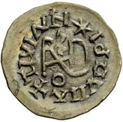 ¼ siliqua Au nom de Justin I, 518-527 & Theoderic, 475–526 (Sirmium; S rétrograde avec buste plat) – revers