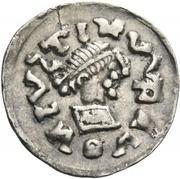 ¼ siliqua Au nom de Justin I, 518-527 & Theoderic, 475-526 (Sirmium) – avers