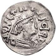 ¼ siliqua Au nom de Justin I, 518-527 & Theoderic, 475–526 (Sirmium; S régulière avec buste plat) – avers