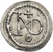 ¼ siliqua Au nom de Justin I, 518-527 & Theoderic, 475-526 (Sirmium) – revers