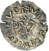 ¼ siliqua Au nom d'Anastasius I, 491-518 & Theoderic, 475-526 (Sirmium; buste face à droite) – revers