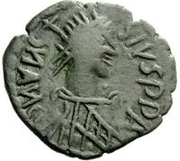1 follis Au nom d'Anastasius I, 491-518 (Sirmium) – avers